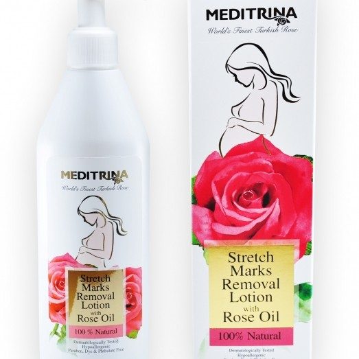 Stretch Marks Removal Lotion with Rose Oil
