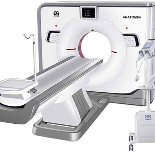 Anatom 64 with integrated Automatic Contrast Agent Injector