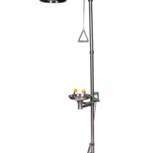 Combined Emergency Shower and Eye/Face Wash, ISTEC Type ESW, Self-Standing Type Type