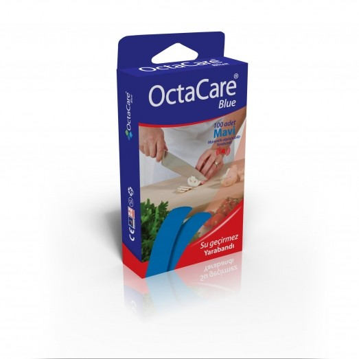 OCTACARE BLUE DETECTABLE FIRST AID PLASTER