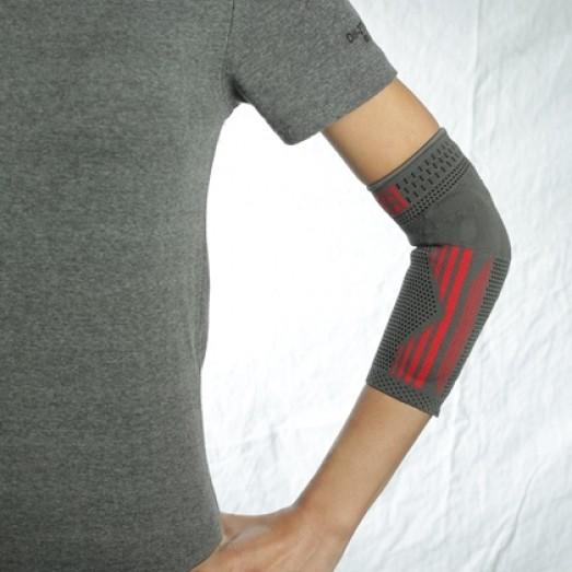R-6E Knitted Elbow Support with Silicone Support